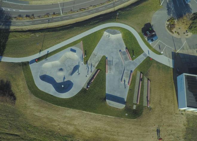 photo drone Skate park du Château d'Olonne