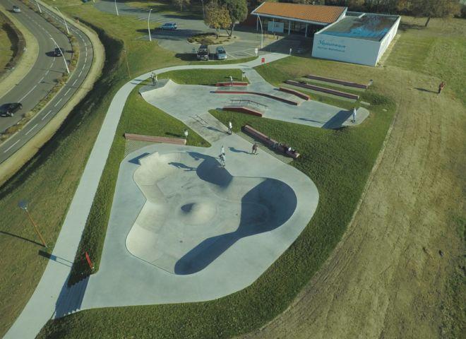 photo drone vendée skate park