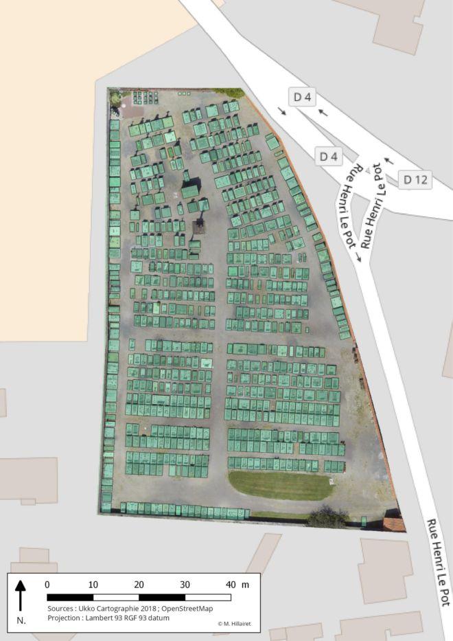 relevé cimetière par drone