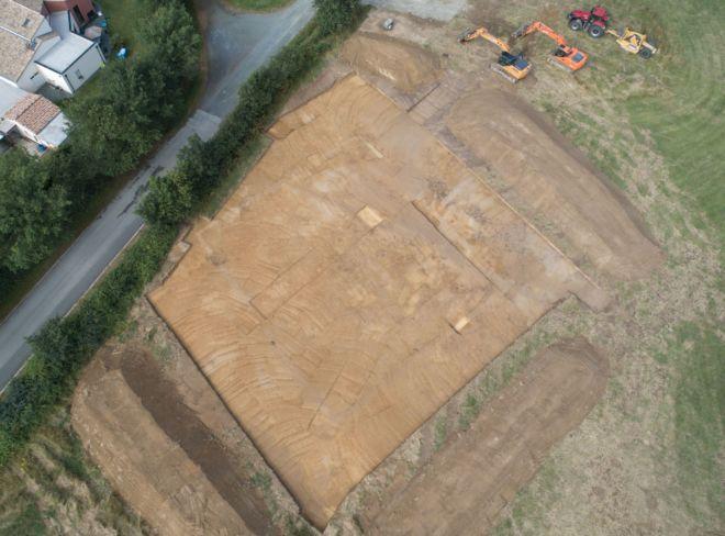 photo drone archéologie