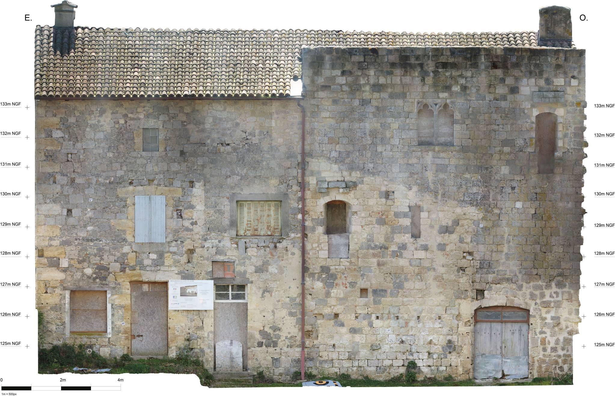 photogrammétrie relevé façade drone orthophoto