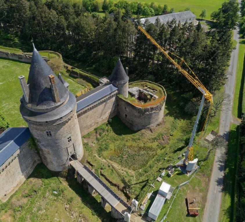 Blain, château de la Goulais – Timelapse et vidéos drone