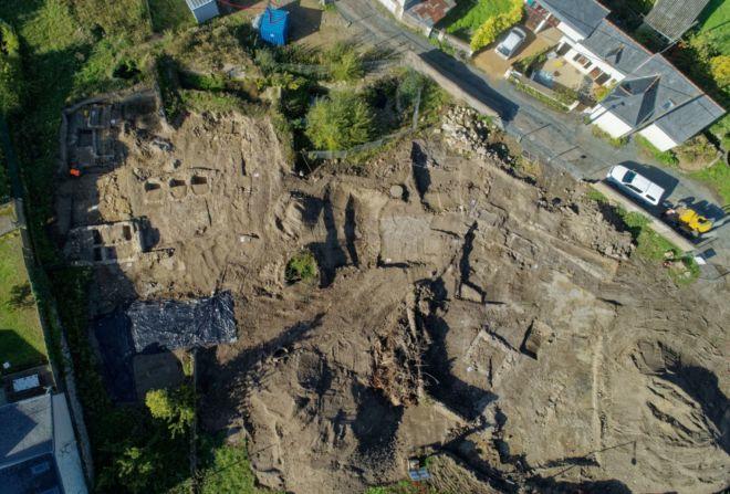 Vue de la zone de fouille par drone