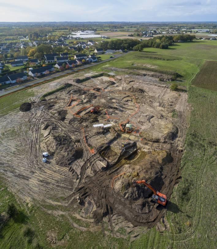 Allonnes, Maine-et-Loire- Timelapse d'une fouille archéologique